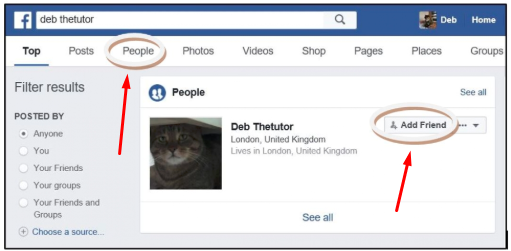 How To Locate Someone Facebook ID